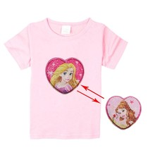 13751414 Changing long hair Princess sequin pink fashion t shirt princess Tangled  Rapunzel for girls 3-