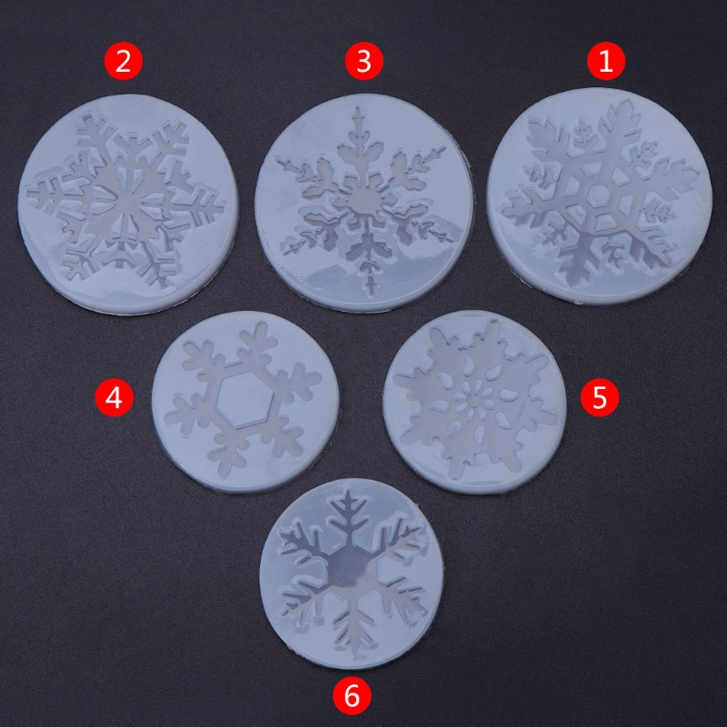Silicone Mold Snowflake Christmas DIY Crafts Jewelry Making Pendant Epoxy Resin