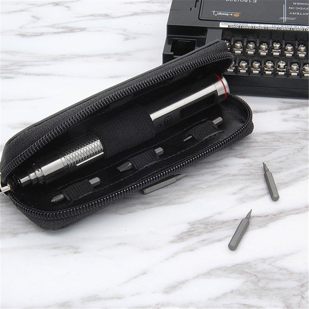 Hot Selling ES120 ES121 Small Lightweight Electric Screwdriver Carry Case Zipper Pouch Screw Driver Bit PU Organizer Bag title=