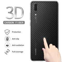 5Pcs Screen Protector 3D Clear Carbon Fiber Back Film Stickers for Huawei P20 Pr