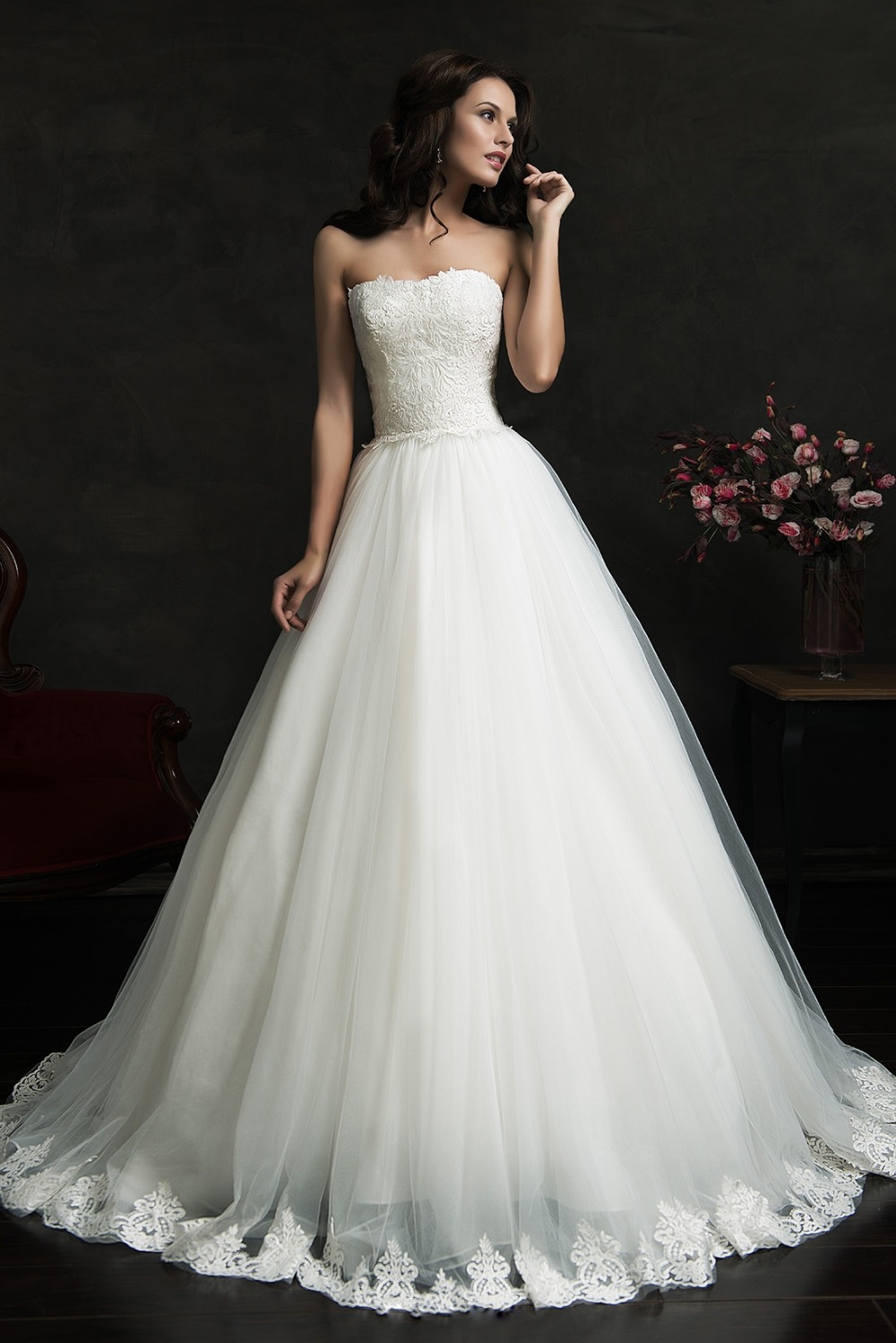 Online buy wholesale princess cut dress from china for Wedding dresses princess cut