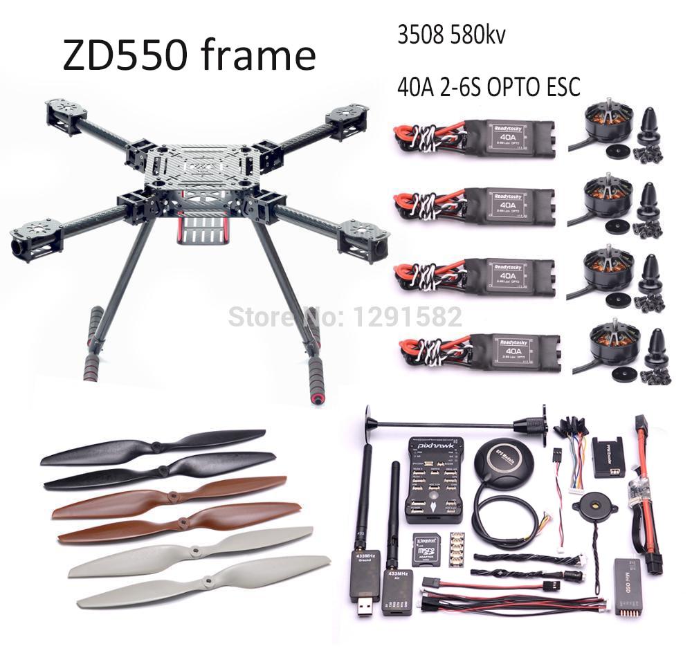 ZD550 ZD 550 Carbon Fiber Quadcopter Frame Kit 3508 580KV / 5010 750kv Motor 40A ESC OPTO 2 6S ESC Pixhawk 2.4.8 controller set-in Parts & Accessories from Toys & Hobbies    1