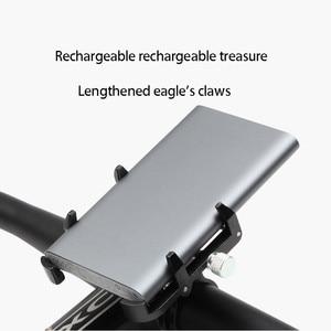 Image 2 - Soporte de montaje para bicicleta y Moto, soporte de GPS para teléfono inteligente Gopro de 3,5 6,2 pulgadas, Banco de energía, Clip para manillar de teléfono móvil