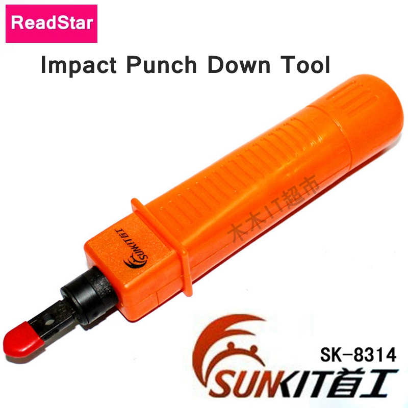 [ReadStar] Networking & Telephone wire Tool Impact punch down tool SUNKIT SK-8314 RJ45 RJ11 Plug tool Force adjustable
