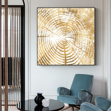 Nordic INS gold foil annual ring abstract decorative paintings Simple and modern home Entrance Hanging pictures Wall painting