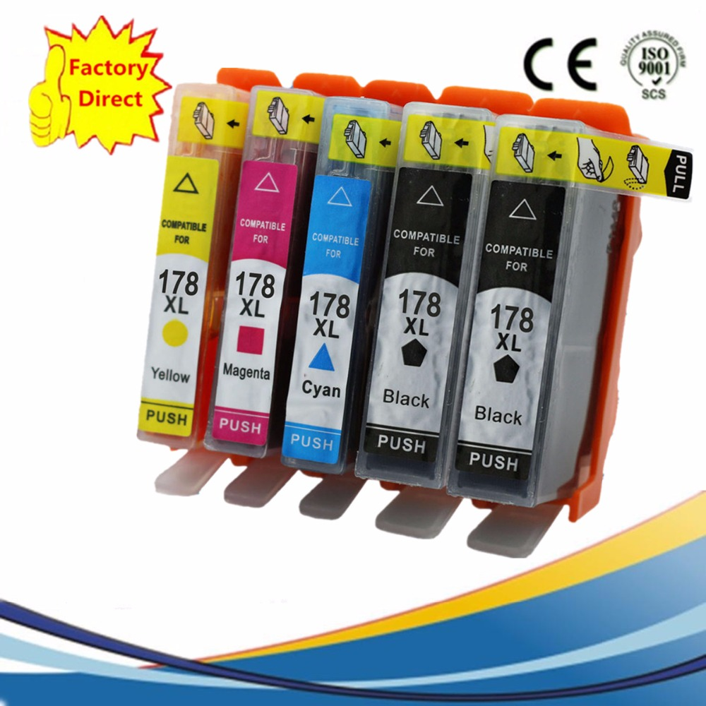 Cartridges Replacement For HP178XL <font><b>178</b></font> 178XL <font><b>178</b></font> Photosmart 5520 5522 5524 6510 6512 6515 6520 7510 7515 Inkjet image