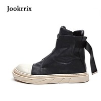 Jookrrix 2018 Spring New Fashion Brand Lady Casual White Shoes Women Sneaker High Top Breathable Girl