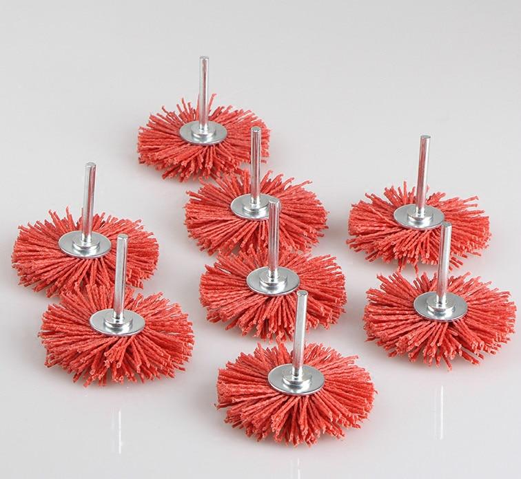 The Red Flower Polished DuPont Nylon Abrasive Silk Wood Mahogany Furniture, Wood Carving And Polishing Brush Wear