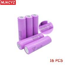 16Pcs 3.7V 2600mAh 18650 Battery MICKTICK lithium Li Ion Rechargeable Large Capacity Batteries battaria T6 Flashlight red LED
