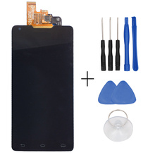 In Stock Original For Philips W6618 LCD Display And Touch Screen Assembly For Philips W6618 Free Shipping+black+Tools
