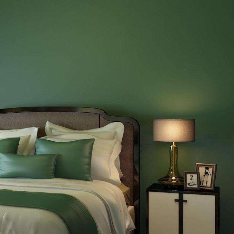 Купить с кэшбэком Pure Pigment Color Non-woven Wallpaper Retro Nostalgia Personality Blue Green Living Room Background Wall Paper Roll