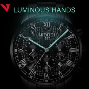 Image 5 - Nibosiメンズスポーツ腕時計メンズ防水高級ブランド腕時計2019ファッションフルスチールアナログクォーツ腕時計レロジオmasculino