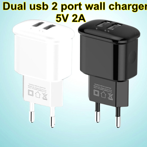 Charger EU 5V 2A Dual Micro USB Universal Mobile Phone Charger Charging For iphone 5 5S 6 6 plus for Samsung Galaxy S3 S4 S5