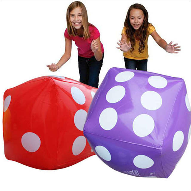 Placeholder Kindergarten Interactive Tos Giant Inflatable Dice Toy Ball Outdoor Kids Fun Sports Equipment Family Beach
