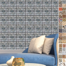 New 44 Color 3D Brick Wall Stickers Living Waterproof PVC Room Bedroom DIY Adhesive Wallpaper Art 30*30cm home Decals