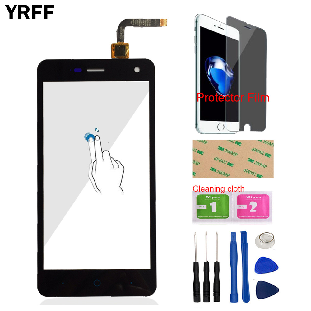 YRFF 5.0'' Mobile Phone Touch Screen Digitizer Panel Front Glass Len Sensor For ZTE Blade L3 V1.0 V1.1 Version Protector Film