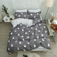 Shaun the Sheep bedding sets duvet cover Bed Linen pillow cases plaid bed sheets for Children lovely Best selling bedclothes