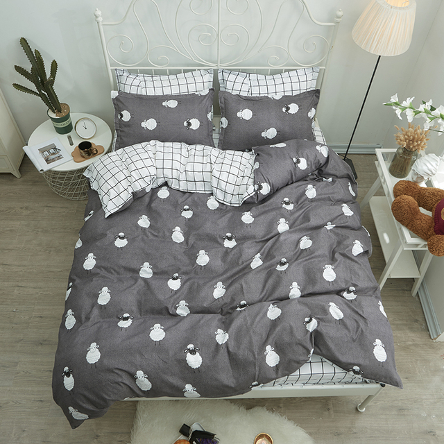 Shaun The Sheep Bedding Sets Duvet Cover Bed Linen Pillow Cases Plaid Sheets For Children Lovely Best Ing Bedclothes
