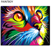 Frameless Painting By Numbers Colorful Animals DIY Canvas Oil Painting Home Decor For Living Room G