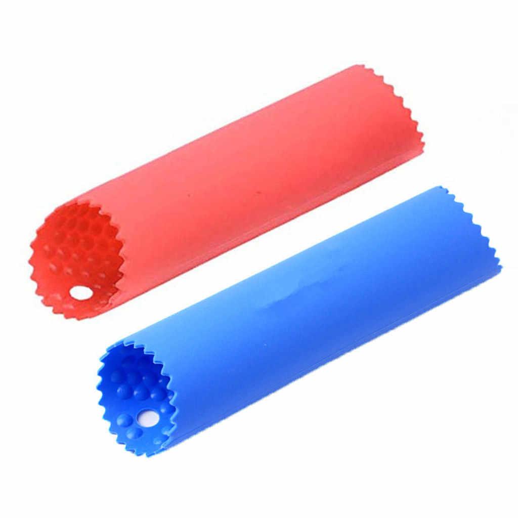 2 pçs útil silicone alho descascador vegetal descascador prático cozinha gadget alho descascador tubo peeling alho a18