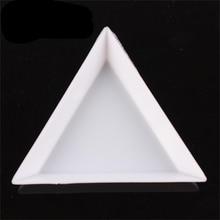 DIY Nail Art Decoration Dotting Plastic Crystal Triangular Tray Rhinestone Diamond Stotrage Plate Manicure tools