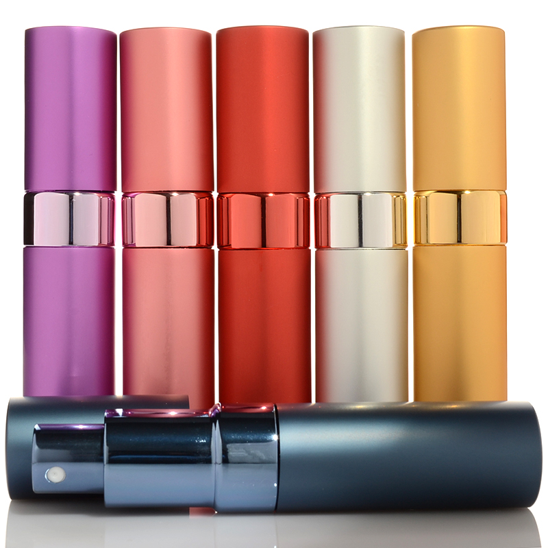 1PC Top Quality 15ml Metal Perfume Refillable Spray Bottles Empty Aluminum Travel Parfume Atomizer Empty Cosmetic Bottle