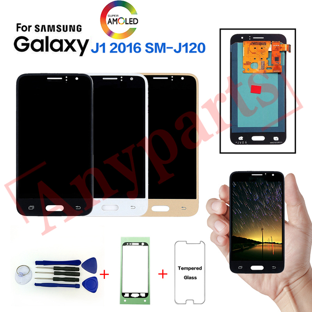 Original For Samsung Galaxy J1 2016 SM-J120F J120FN Display lcd Screen replacement for SAMSUNG J120G J120H J120M J120A display