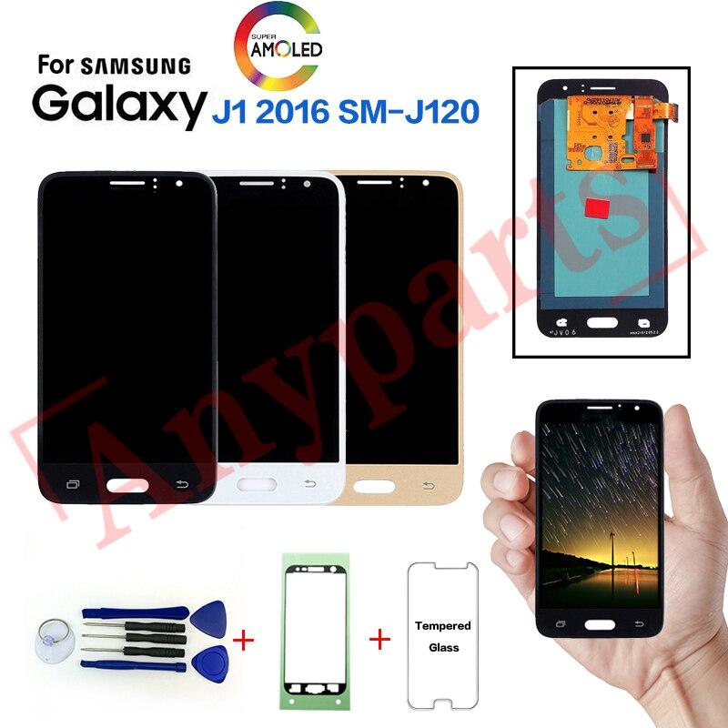 Original para samsung galaxy j1 2016 SM-J120F j120fn display lcd substituição da tela para samsung j120g j120h j120m j120a display