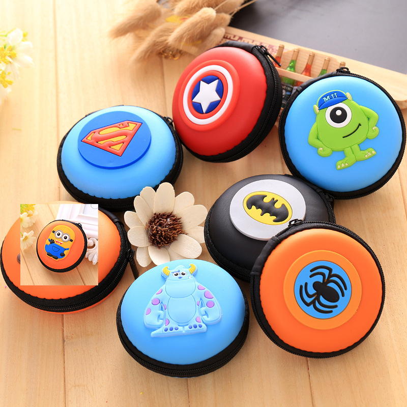 Mini Portable Earphone Case Carry Bag Earpieces Cables Lines Hard Case Cables Headphones Storage Case Stationery Storage Box