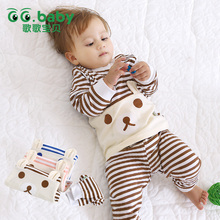 hot deal buy cotton spring autumn baby sets,fashion newborn clothing sets, baby boy girl clothes suits(shirt+pants) infant set
