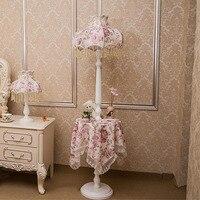 Simple Fashion Princess Princess Fabric Lampshade Floor Lamps E27 110V 220V Coffee Table European Style Living