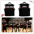Kpop 2016 summer dress BTS Bangtan T-shirt boys k-pop Baseball uniform sleeveless fight song clothes coat