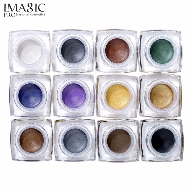 IMAGIC makeup eye shadow cream Cosmetic Palette make up  eyeshadow cream shimmer shadows case for eyes Cosmetic tools