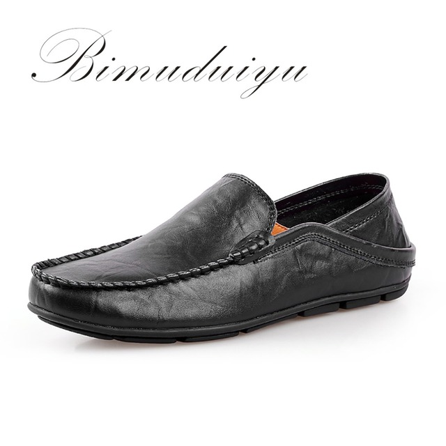 Men's Lazy Loafer Casual Shoes Elegant Flat Soft Driving Shoes