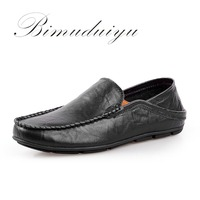Men S Spring Summer Lazy Loafer High Quality Genuine Leather Brand Shoes Elegant Lazy Style