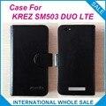 Caliente! 2016 KREZ SM503 DUO LTE caso, 6 colores de la alta calidad cuero Exclusive cubre para KREZ SM503 DUO LTE número de seguimiento