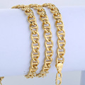 6mm 52.5cm Cut Twisted Marina Link Mens Chain Womens Unisex Yellow Gold Filled GF Necklace Wholesale Jewelry Gift LGN363