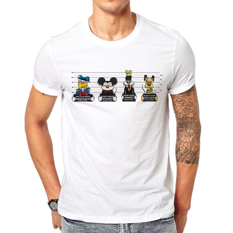 2019 nouvelle impression t-shirts souris t-shirt hommes hauts hip hop décontracté drôle chien dessin animé t-shirt homme confort t-shirt