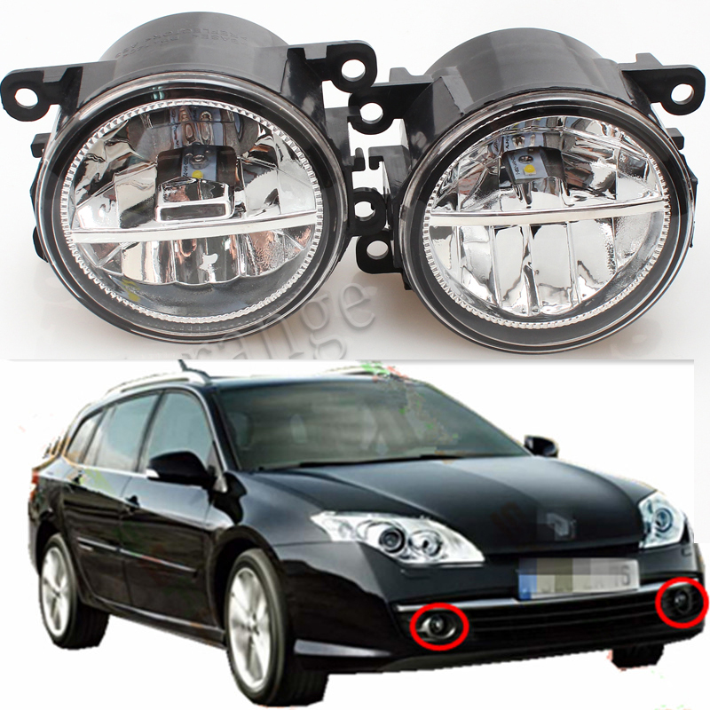 For RENAULT LAGUNA 3/III Grandtour 2007-2012 Car Styling Led Lamps Refit Fog Lights 12V 2 PCS for renault laguna 2 ii grandtour kg0 1