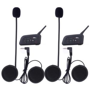 Image 5 - 4 قطعة Fodsports V4 خوذة للدراجات النارية اتصال داخلي سماعة رأس بخاصية البلوتوث 4 راكبين 1200 متر لاسلكي Intercomunicador BT راديو FM