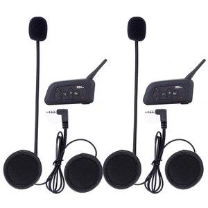 Image 5 - 4pcs Fodsports V4 Motorcycle Helmet Intercom Bluetooth Headset 4 Riders 1200M Wireless Intercomunicador BT Interphone FM radio