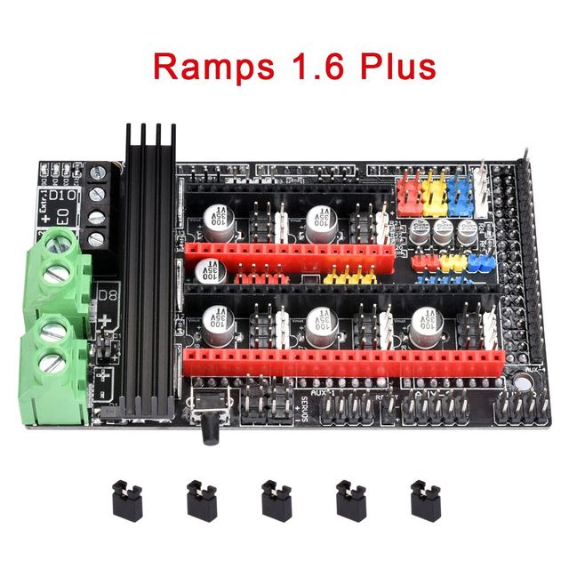 US $9 11 7% OFF|Ramps 1 6 Plus Upgrade Ramps 1 6 1 5 1 4 Motherboard  Support A4988 DRV8825 TMC2208 TMC2130 Driver Reprap For 3D Printer Parts-in  3D