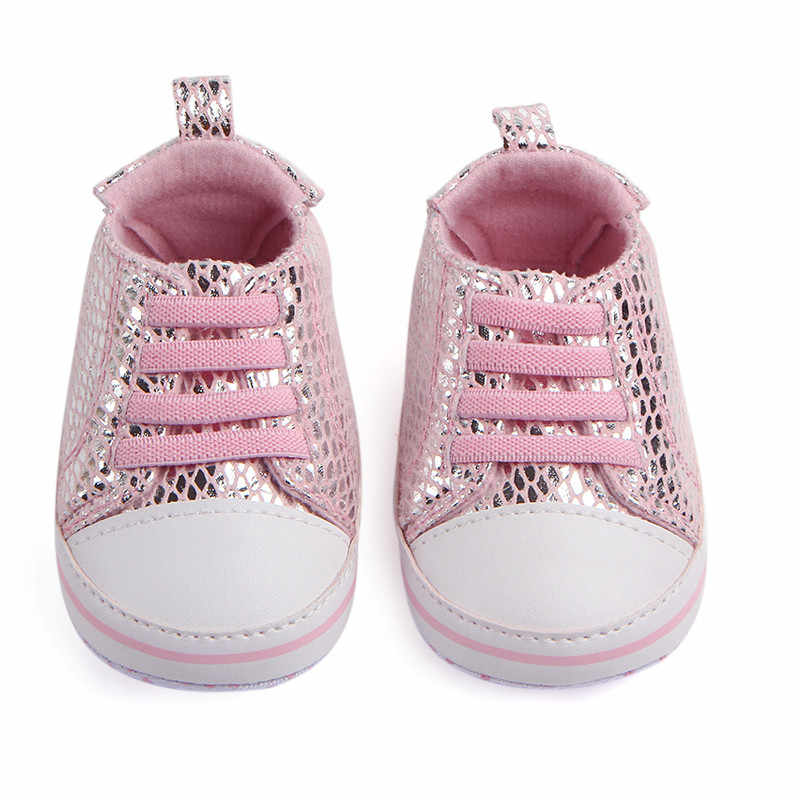 73b57a3f7cf47 Newborn Baby Crib Shoes Girls Sneakers Infant Lace up Tenis Soft ...