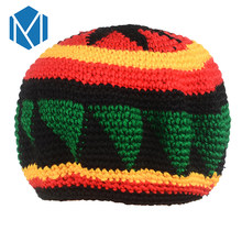 C Novelty Knitted Jamaica Bob Marley Rasta Beanie For Women Men Multicolor Male Hat Female Cap Headwear Hair Accessories(China)