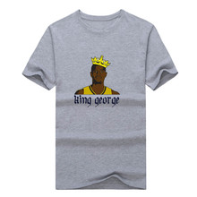 "2017 Fashion Paul George Pacers ""King George"" T-shirt Tee 100% Cotton fans 13 T shirt 0112-30"