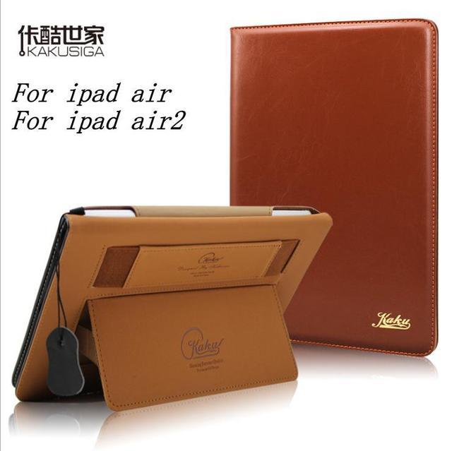 Оригинальный каку ультратонких роскошный ретро puLeather чехол для iPad Air iPad 5 для iPad Air 2 iPad 6 смарт-чехол пробуждения / сна занимают чехол