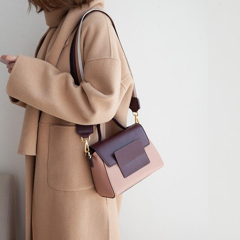 VENOF mode retro brede bandjes real lederen schoudertas voor vrouwen luxe vrouwelijke crossbody tas prachtige dames handtassen 2018 - 2