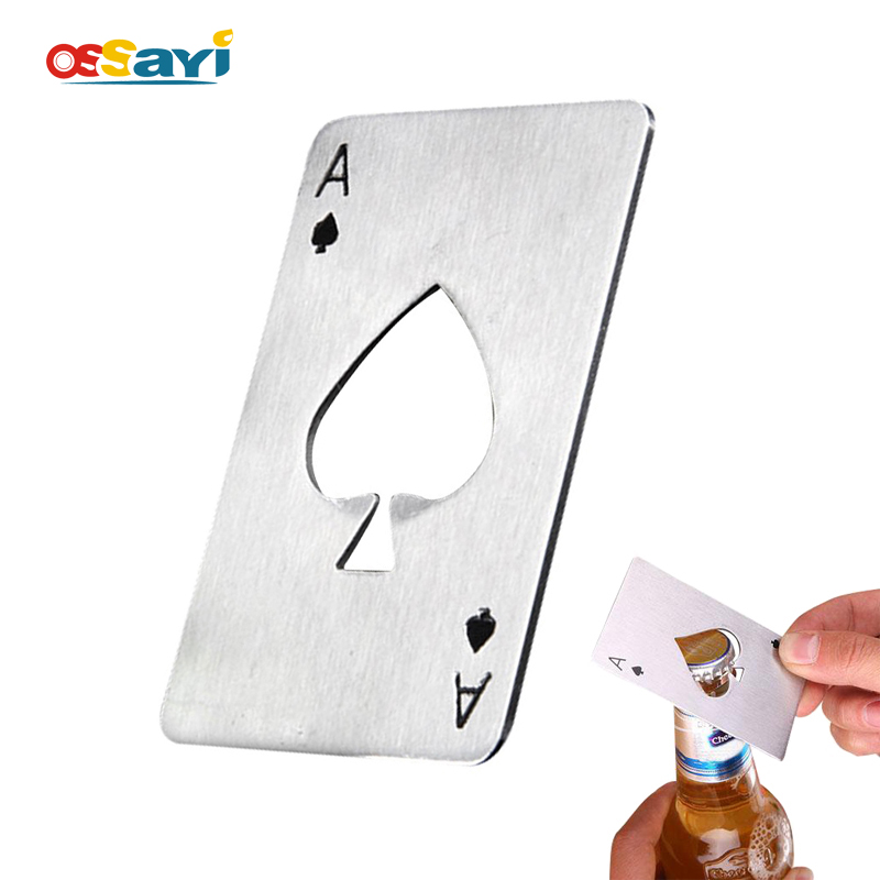 Creative Poker Card Beer Bottle Opener Personalized Funny Stainless Steel Card Bottle Opener Bar Tool Beer Bottle Cap Opener
