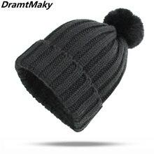 Sombrero del invierno de las mujeres de la marca gorro de piel pompón  invierno sombrero de 25cb5a596d1
