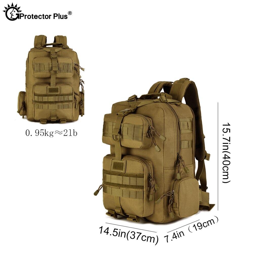 Protecteur PLUS militaire MOLLE sac à dos tactique pistolet sac désert patrouille sac à dos Camo chasse de haute qualité en plein air voyage armée - 3